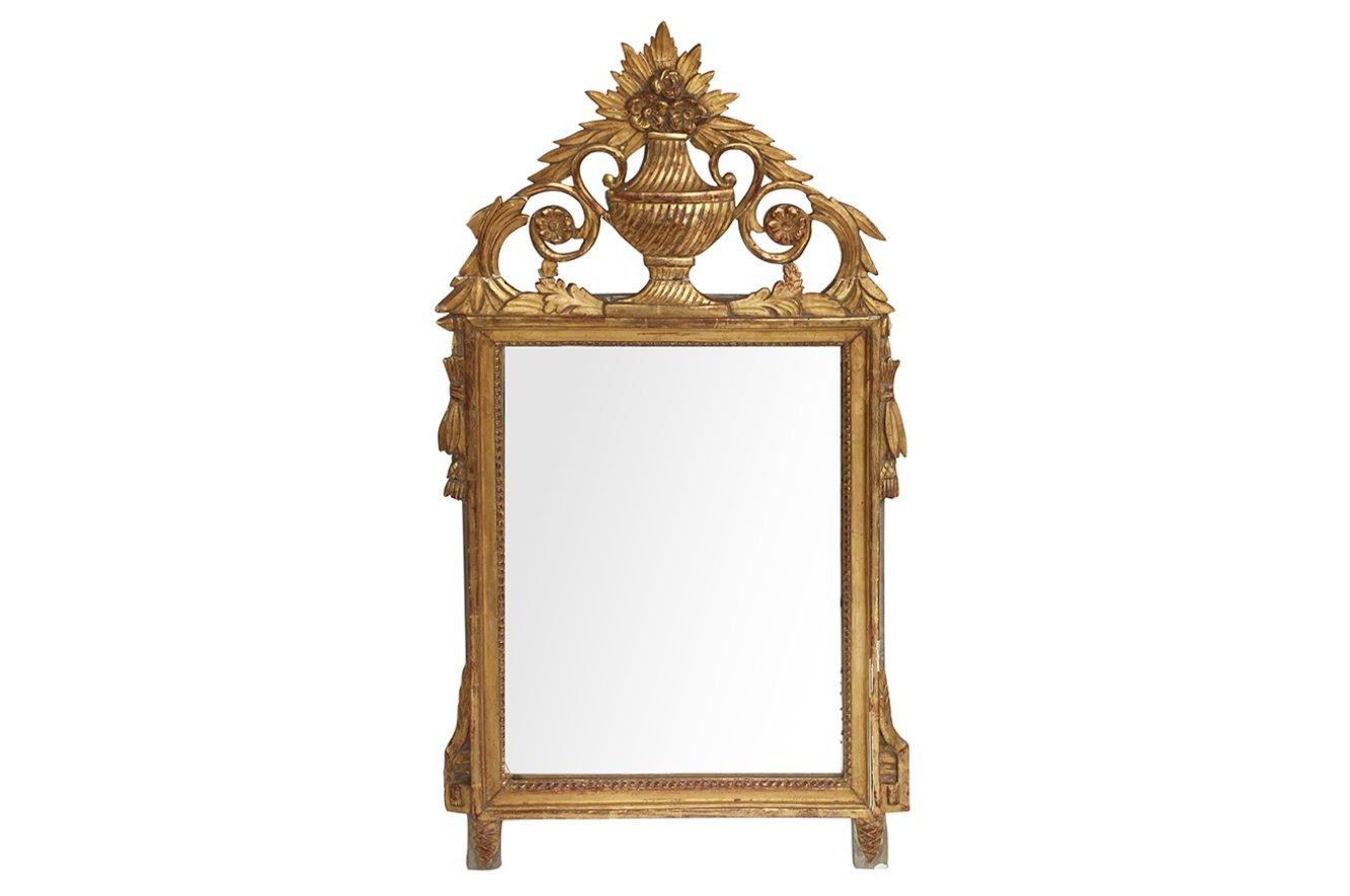 franz sischer vergoldeter antiker holz spiegel bei pamono. Black Bedroom Furniture Sets. Home Design Ideas