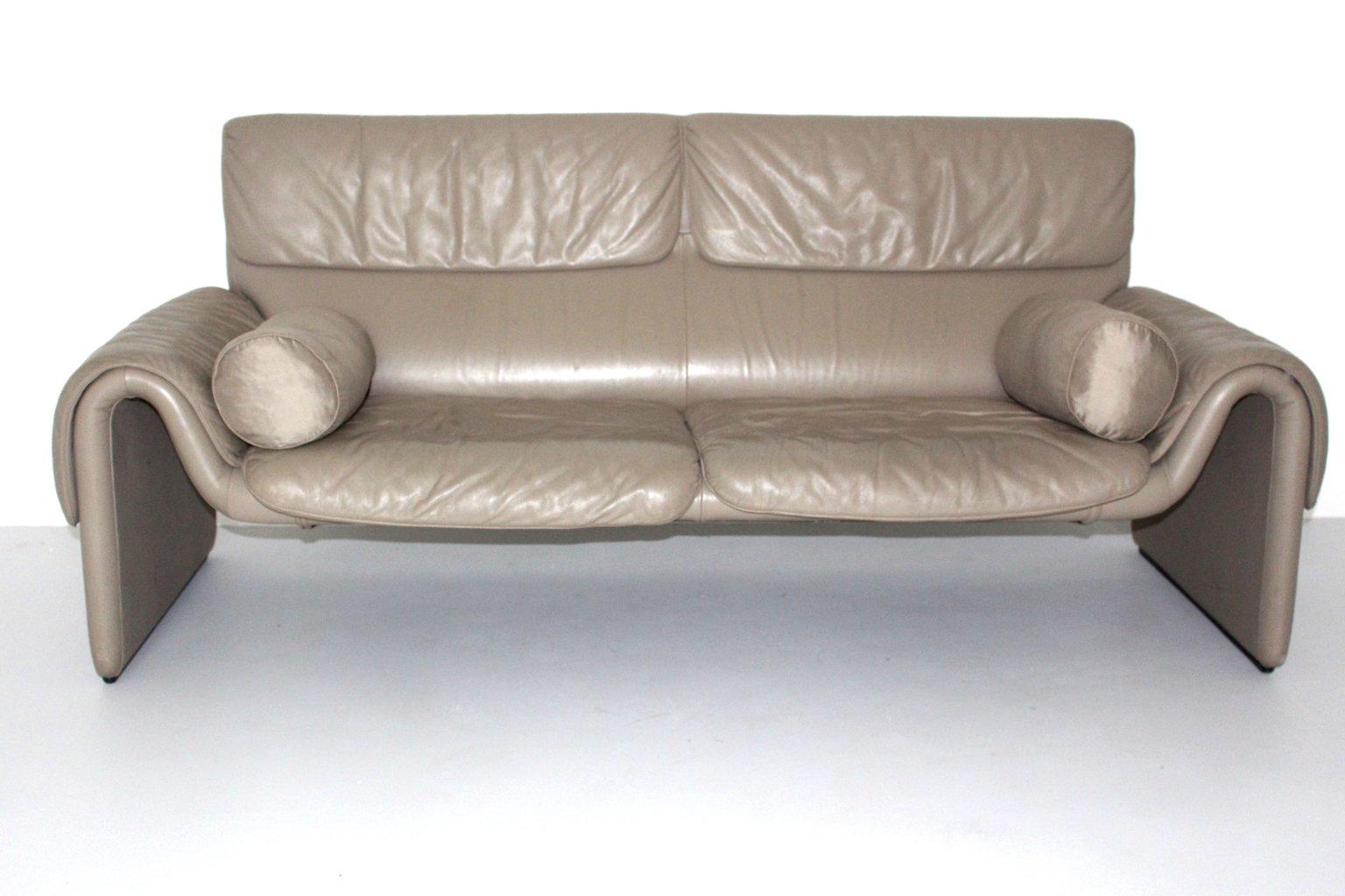 vintage ds 2011 leather sofa from de sede 1980s for sale. Black Bedroom Furniture Sets. Home Design Ideas