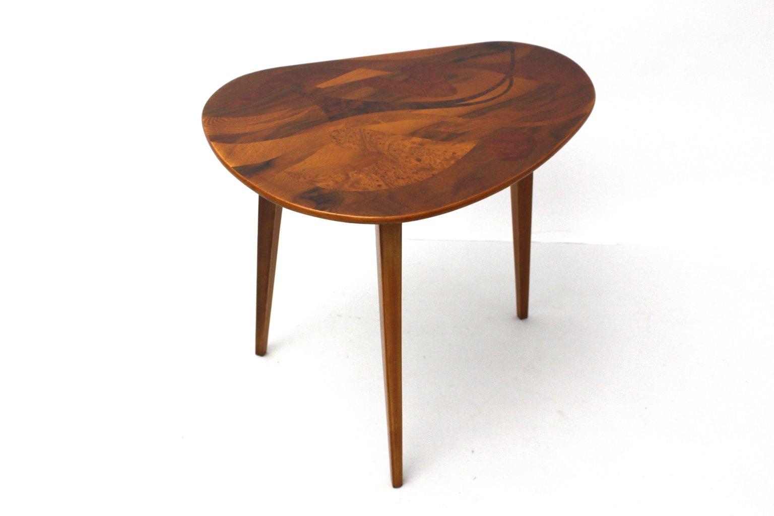 sterreichischer furnierter vintage holz couchtisch 1950er bei pamono kaufen. Black Bedroom Furniture Sets. Home Design Ideas