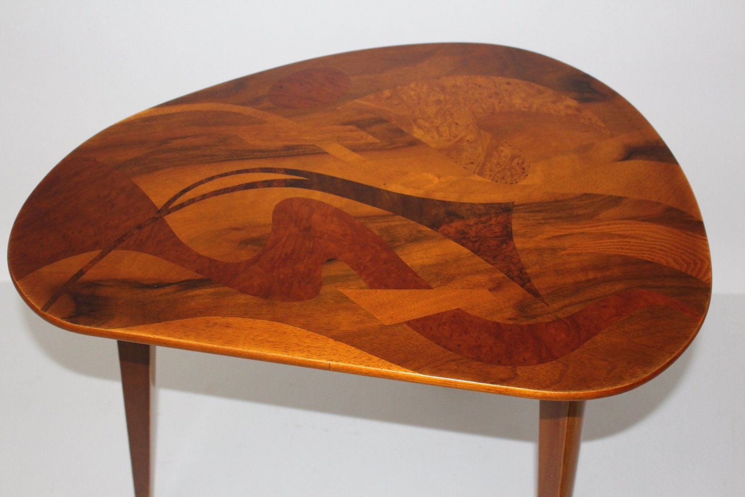 Vintage Austrian Inlaid Wooden Coffee Table, 1950s - Vintage Austrian Inlaid Wooden Coffee Table, 1950s For Sale At Pamono