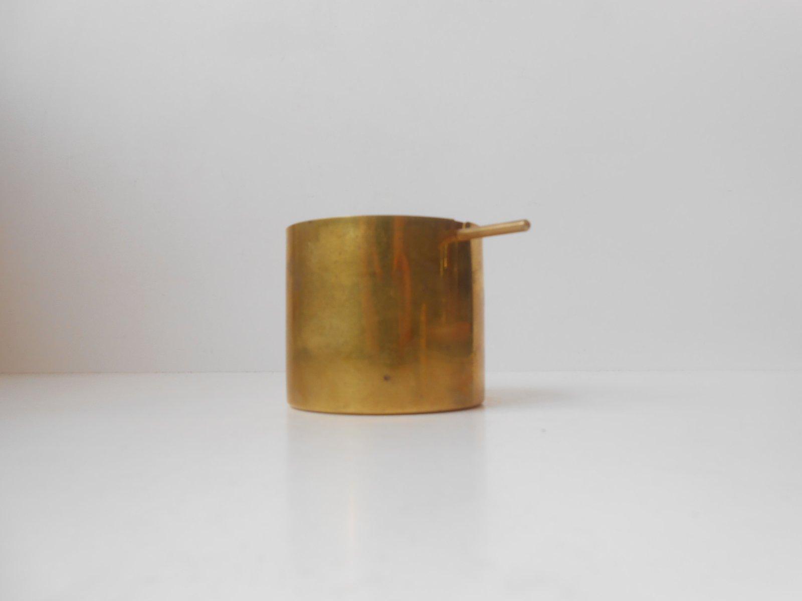 Cylinda Messing Aschenbecher von Arne Jacobsen für Stelton