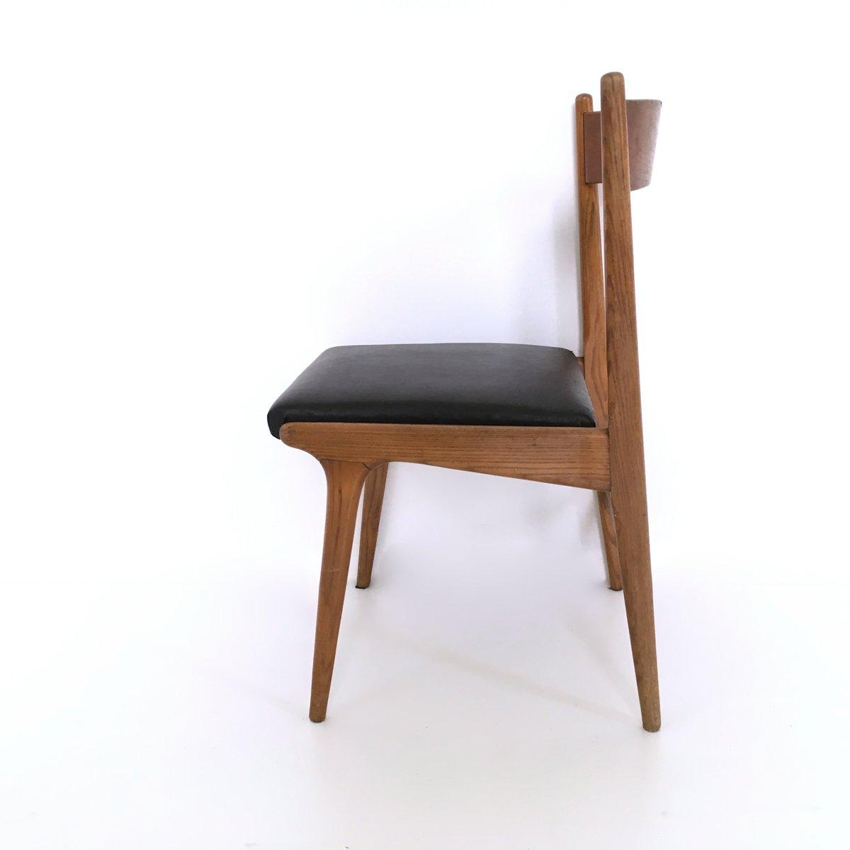 vintage nussholz esszimmerst hle 1960er 4er set bei. Black Bedroom Furniture Sets. Home Design Ideas