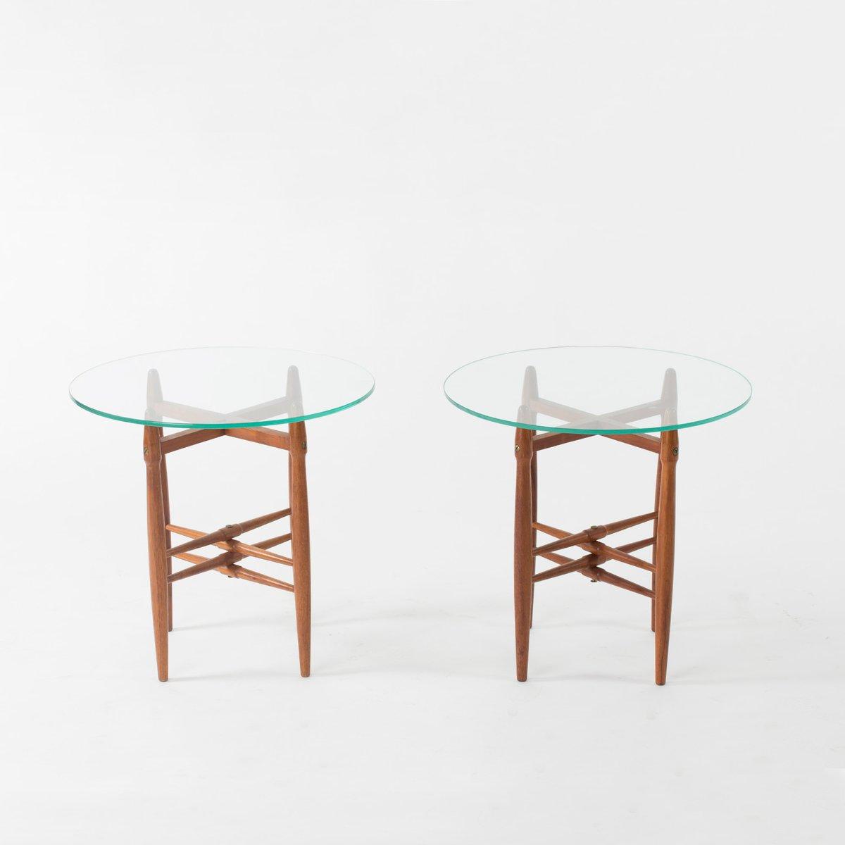 Beistelltische Aus Glas dänische beistelltische aus glas und mahagoni poul hundevad