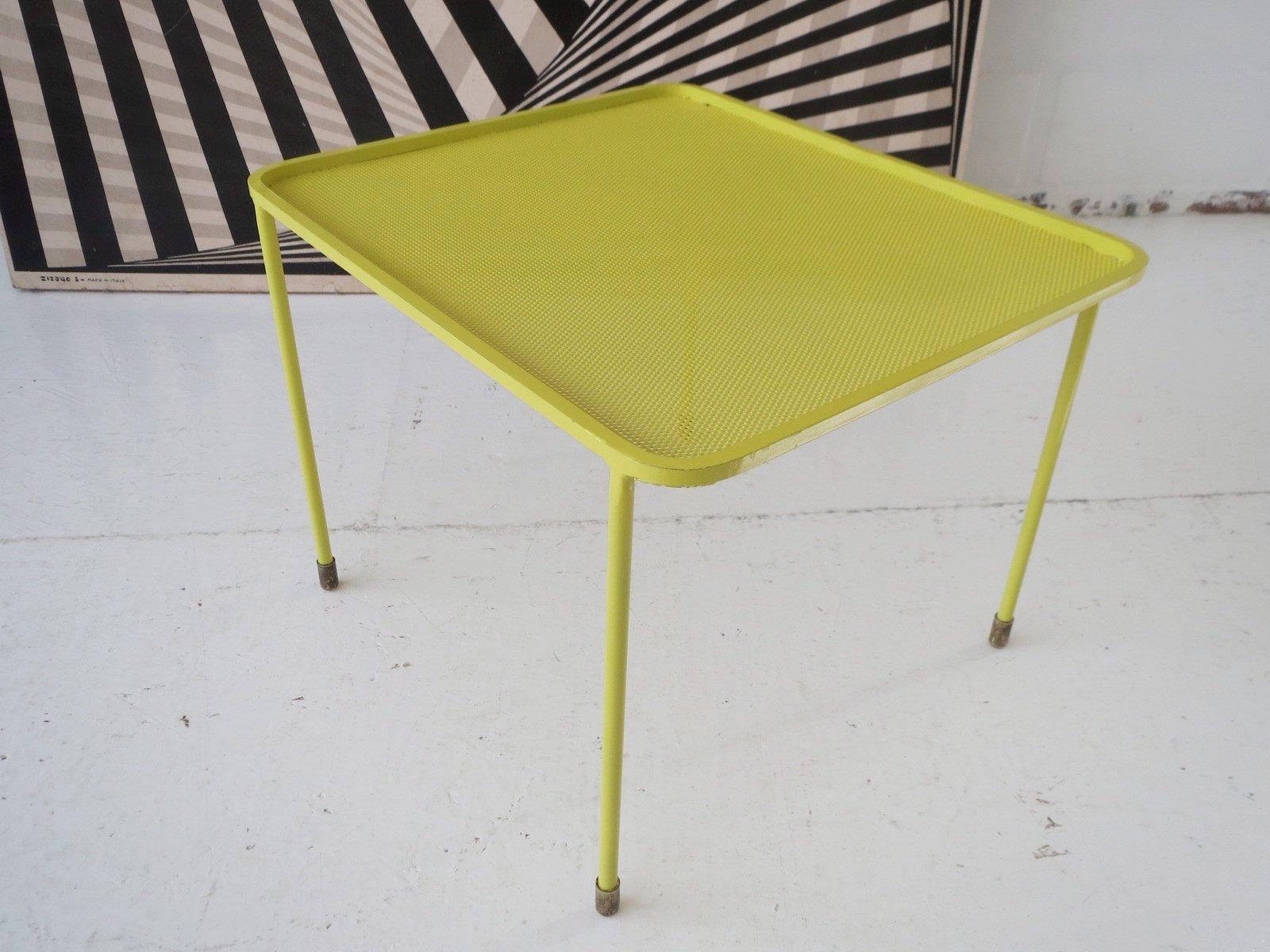 table-basse-en-metal-perfore-de-mathieu-mategot-1950s-15 Incroyable De Table Basse Gigogne Vintage Des Idées