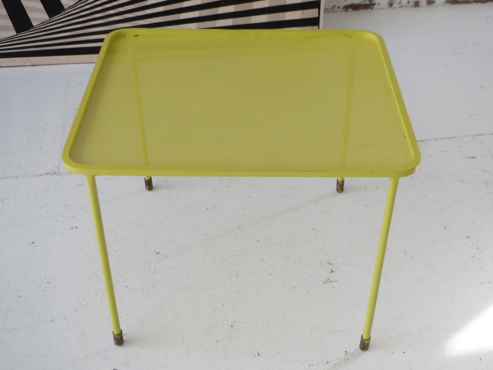 table-basse-en-metal-perfore-de-mathieu-mategot-1950s-2 Incroyable De Table Basse Gigogne Vintage Des Idées
