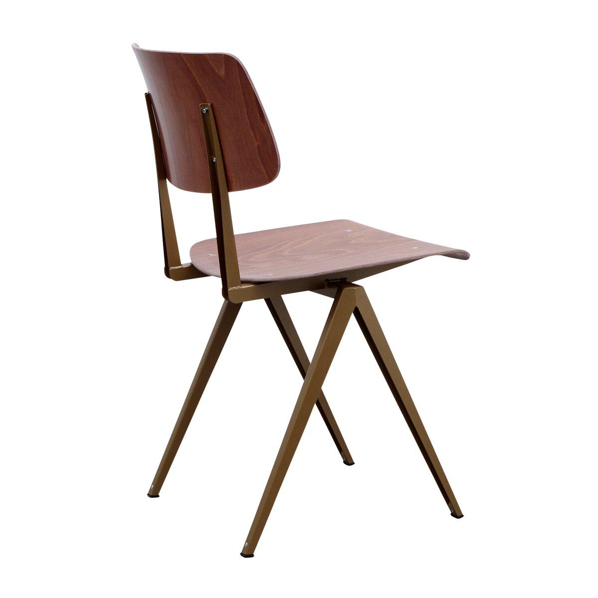 Niederl ndischer modell s16 stuhl aus goldperle brauner for Brauner stuhl