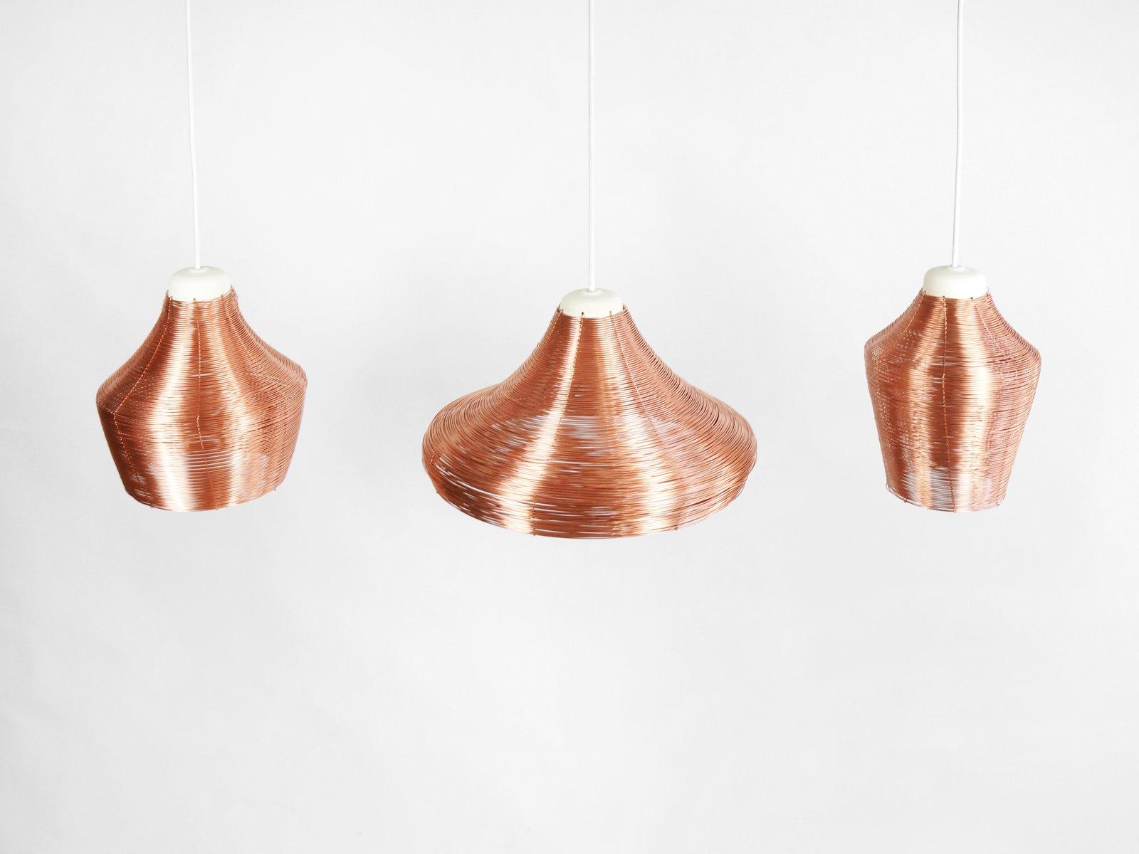 Hängelampe aus Kupferdraht von Studio Lorier bei Pamono kaufen