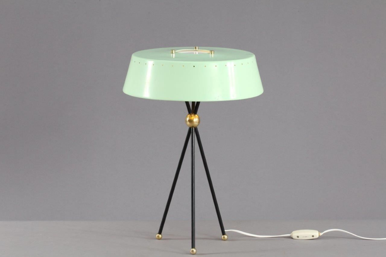 Mint green italian tripod table lamp 1950s for sale at pamono mint green italian tripod table lamp 1950s aloadofball Images