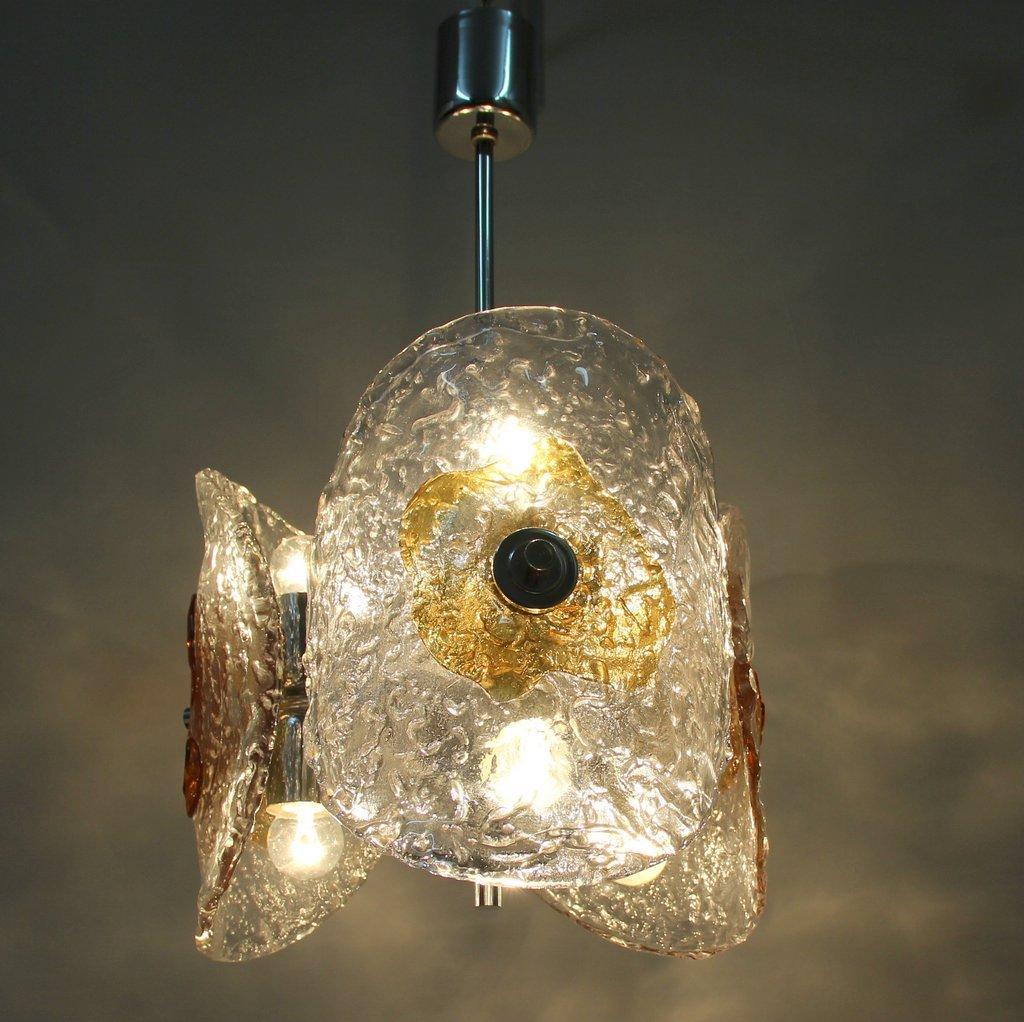 Vintage Murano Glass Chromed Metal Pendant Lamp 9 69800 Price Per Piece