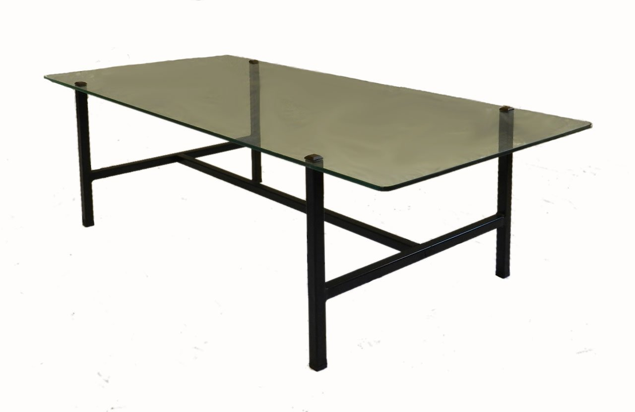 Mid Century French Steel U0026 Glass Coffee Table By Pierre Guariche For  Disderot