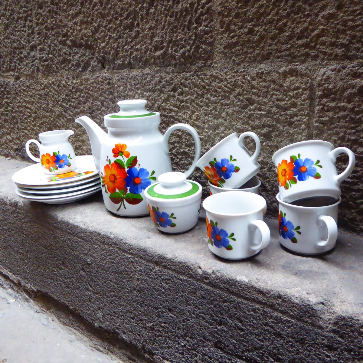 Mid-Century German Coffee Service from Winterling Roslau 1960s Set of 13 & Mid-Century German Coffee Service from Winterling Roslau 1960s Set ...