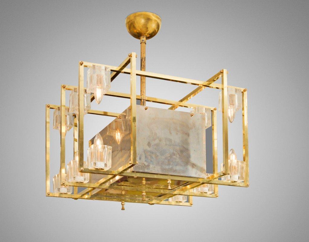Charming Geometric Brass Ceiling Light