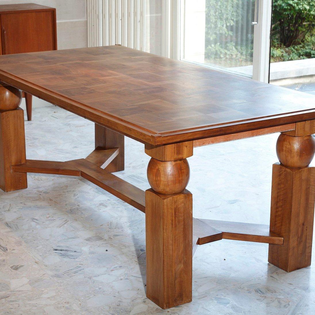 Tavolo da pranzo allungabile in legno naturale di - Tavolo da pranzo legno ...