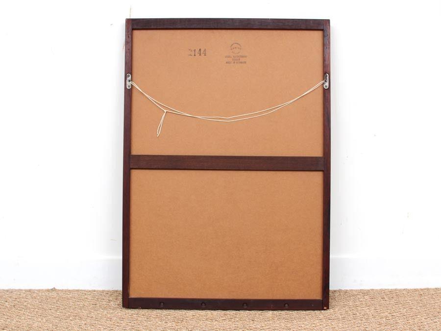 d nischer spiegel mit rahmen aus rio palisander von kai kristiansen f r aksel kjersgaard 1960er. Black Bedroom Furniture Sets. Home Design Ideas