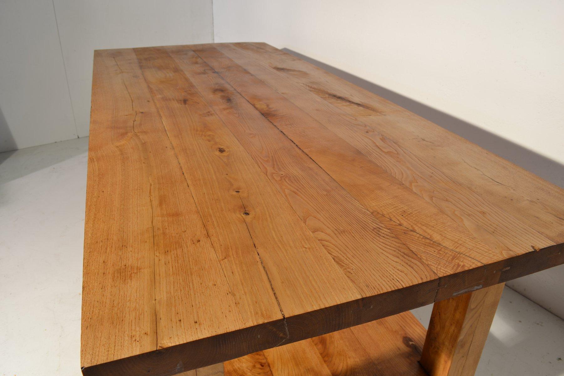 gro er italienischer vintage eichenholz tisch bei pamono. Black Bedroom Furniture Sets. Home Design Ideas