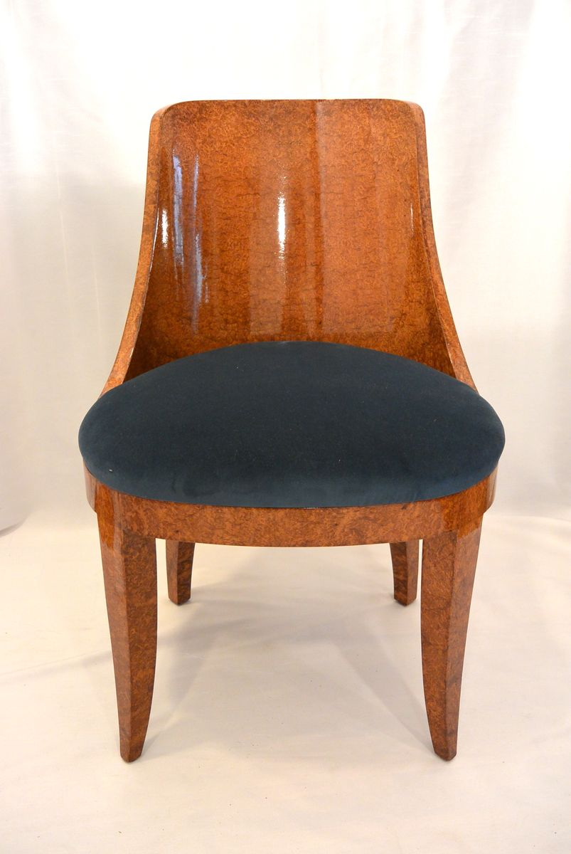 art deco st hle von emile leon bouchet 1925 8er set bei. Black Bedroom Furniture Sets. Home Design Ideas