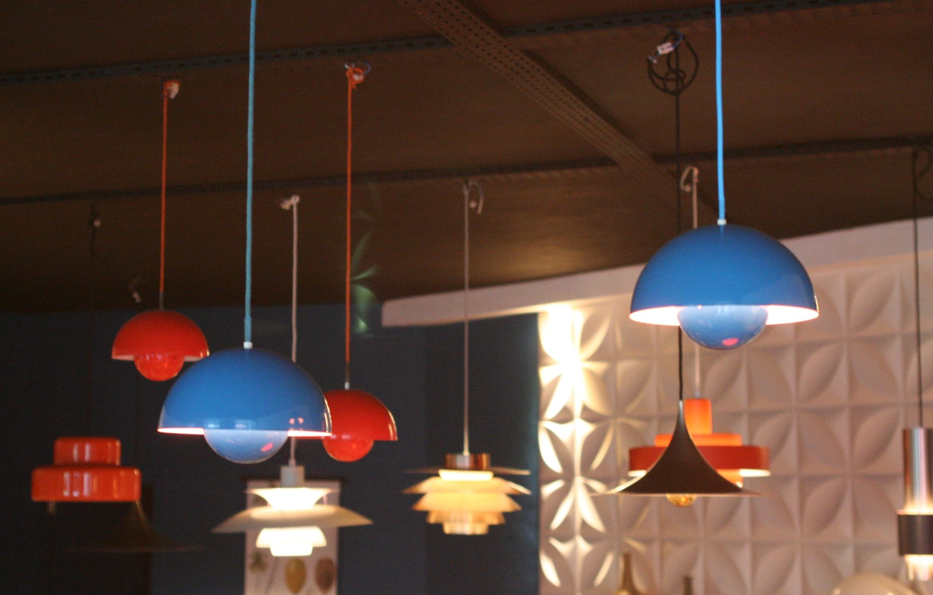 Blue Flower Pot Pendant by Verner Panton for Louis Poulsen
