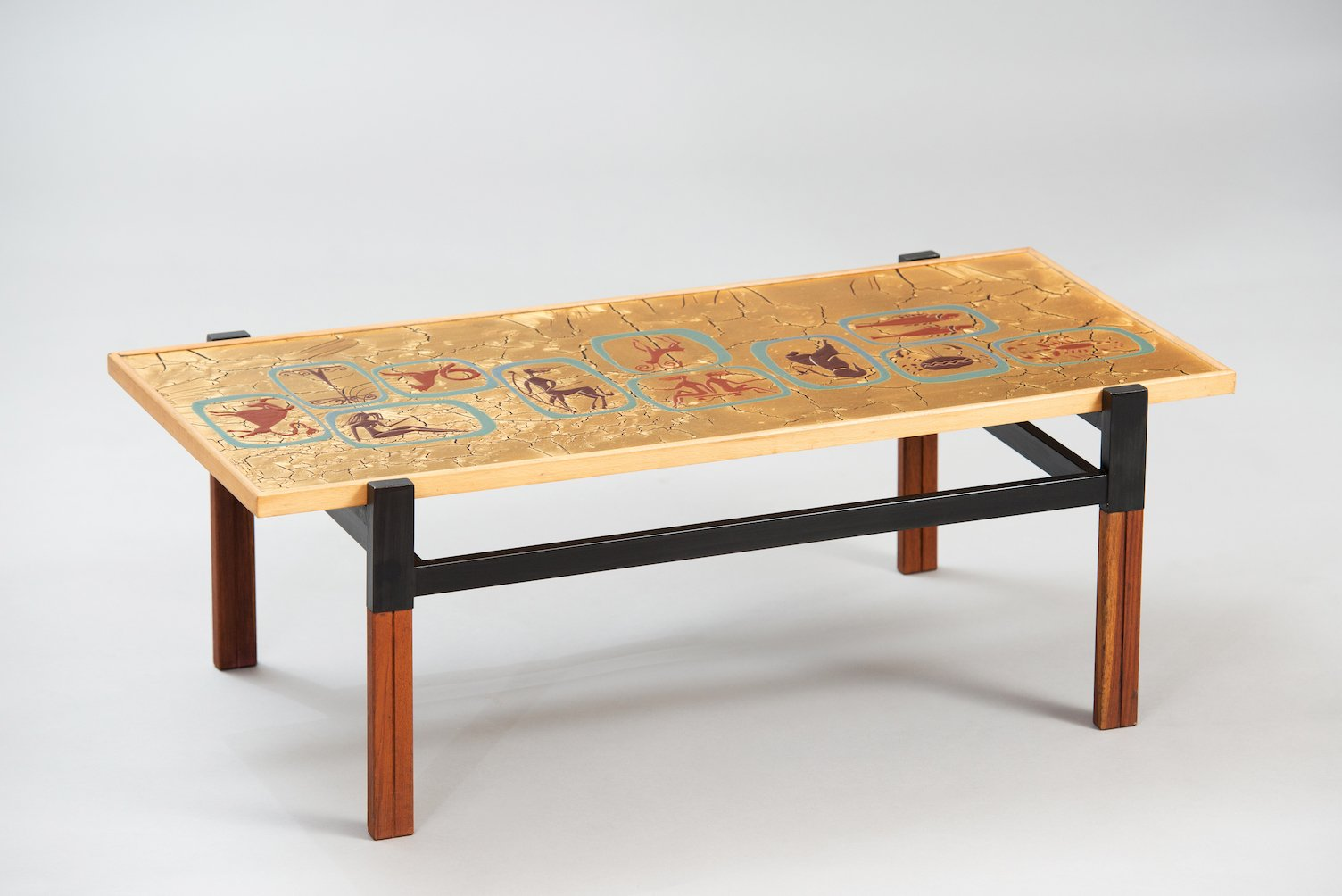 Italian Enameled Coffee Table For Sale At Pamono