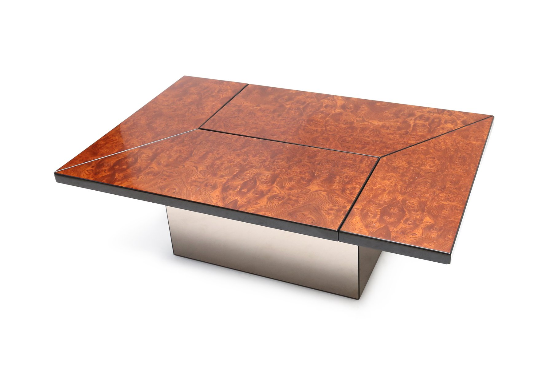Burl Bar Coffee Table by Paul Michel 1970s for sale at Pamono