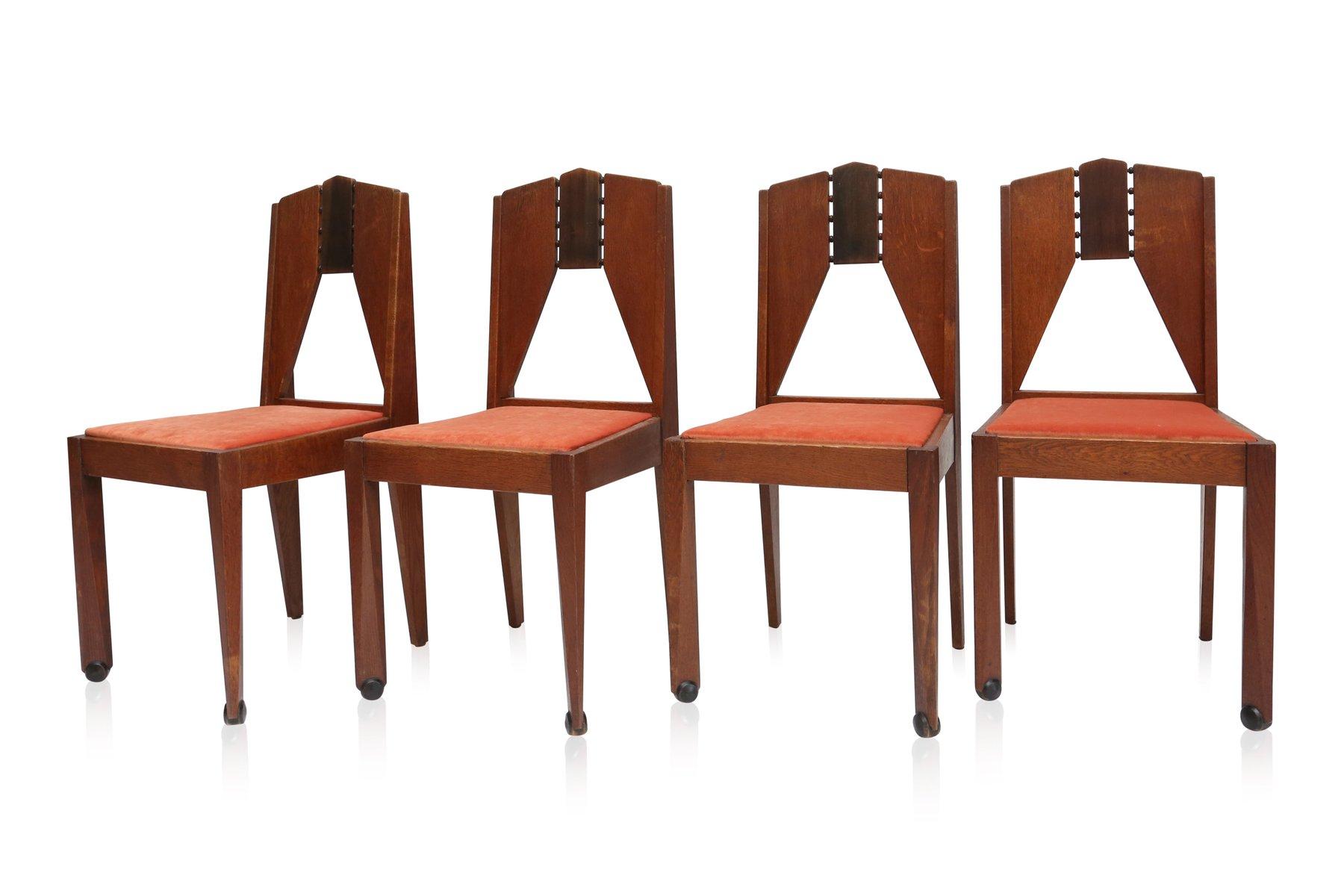 amsterdamer schule st hle 1930er 4er set bei pamono kaufen. Black Bedroom Furniture Sets. Home Design Ideas