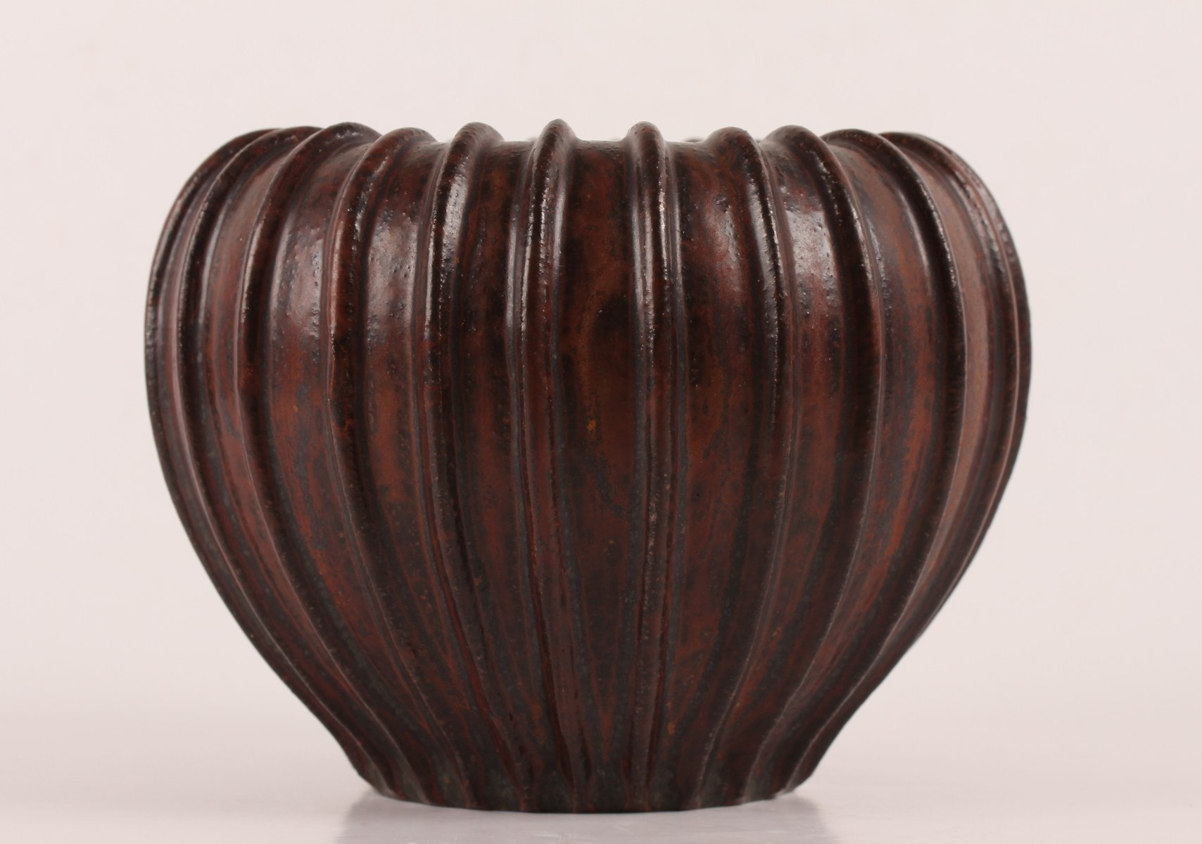 Art deco round brown ceramic vase by arne bang 1930s for sale at previous reviewsmspy