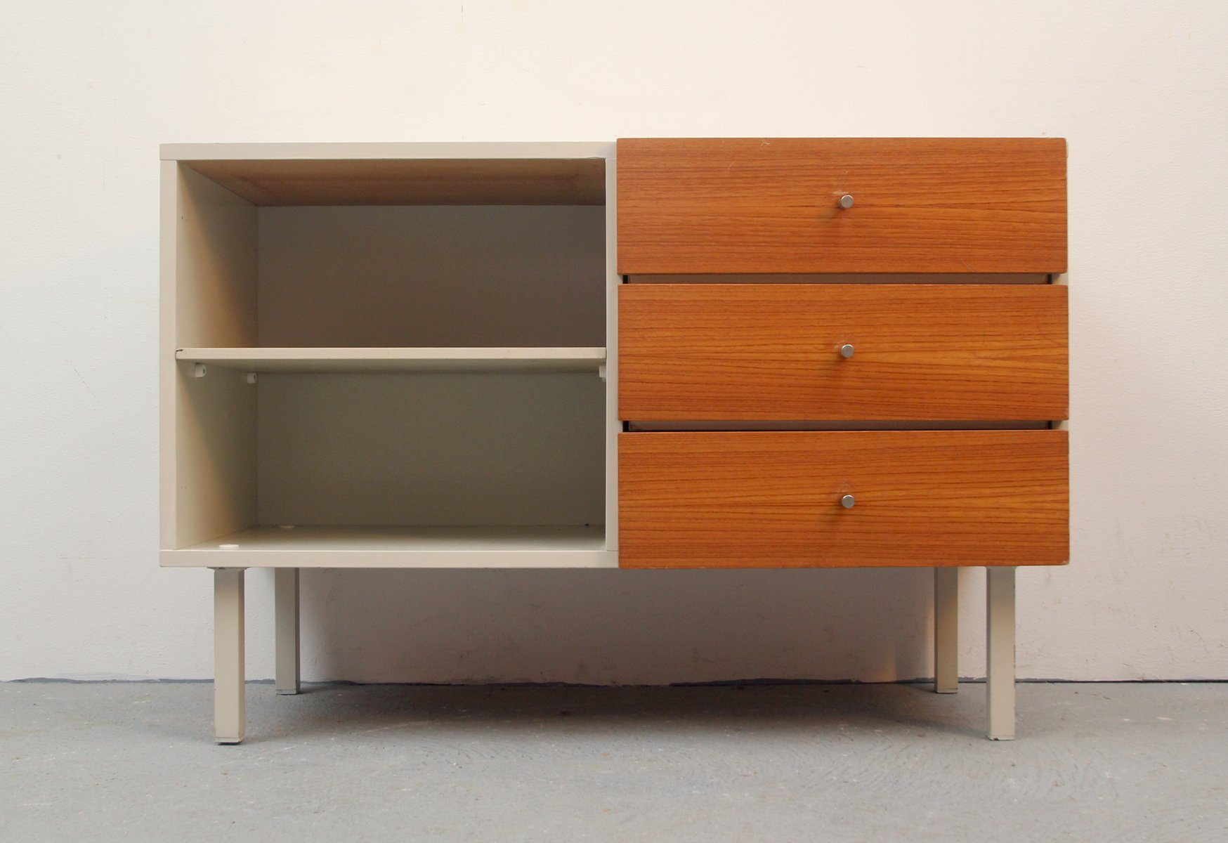 wei es deutsches teak sideboard 1960er bei pamono kaufen. Black Bedroom Furniture Sets. Home Design Ideas