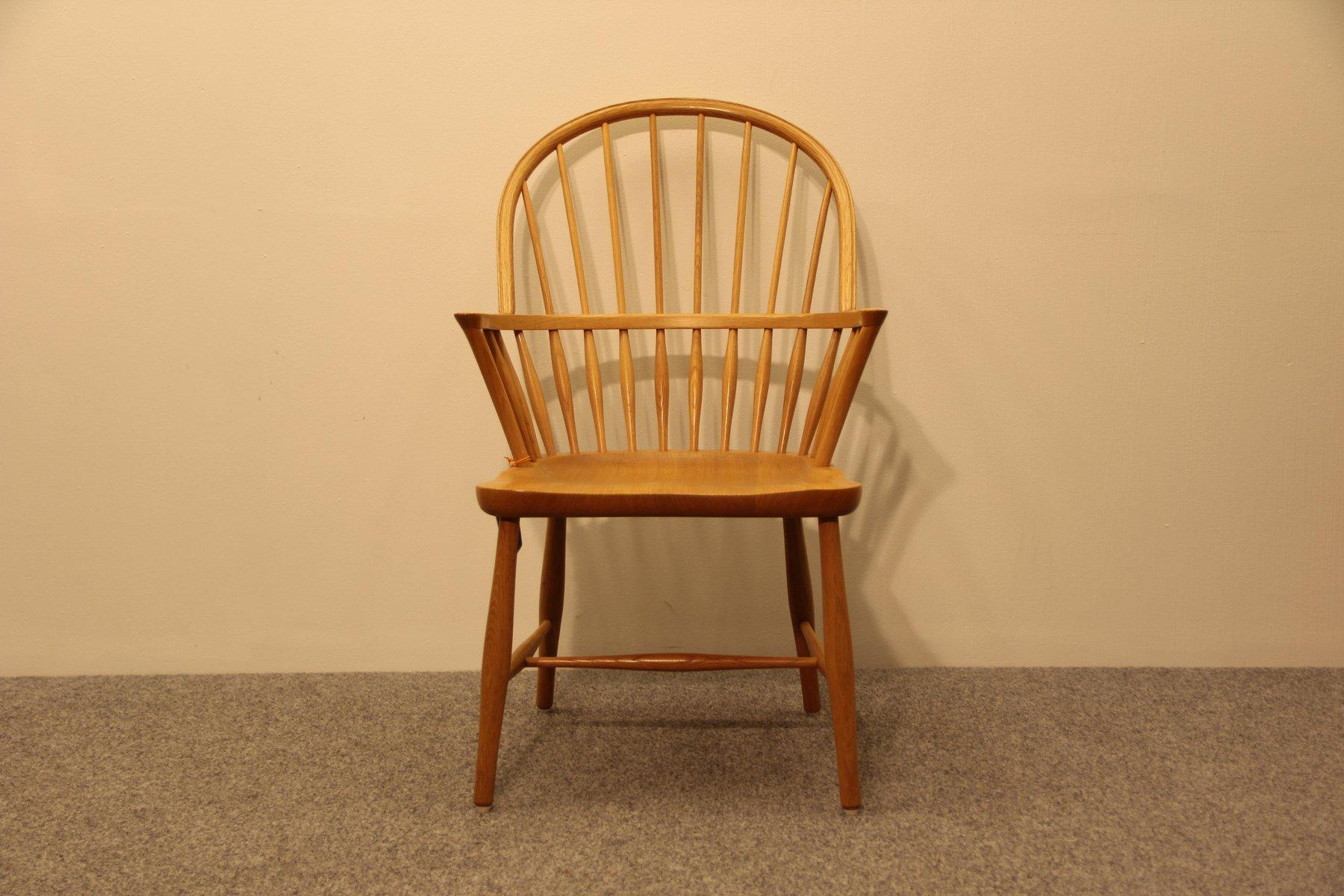 vintage ch 18a eichenholz stuhl von frits henningsen f r carl hansen bei pamono kaufen. Black Bedroom Furniture Sets. Home Design Ideas