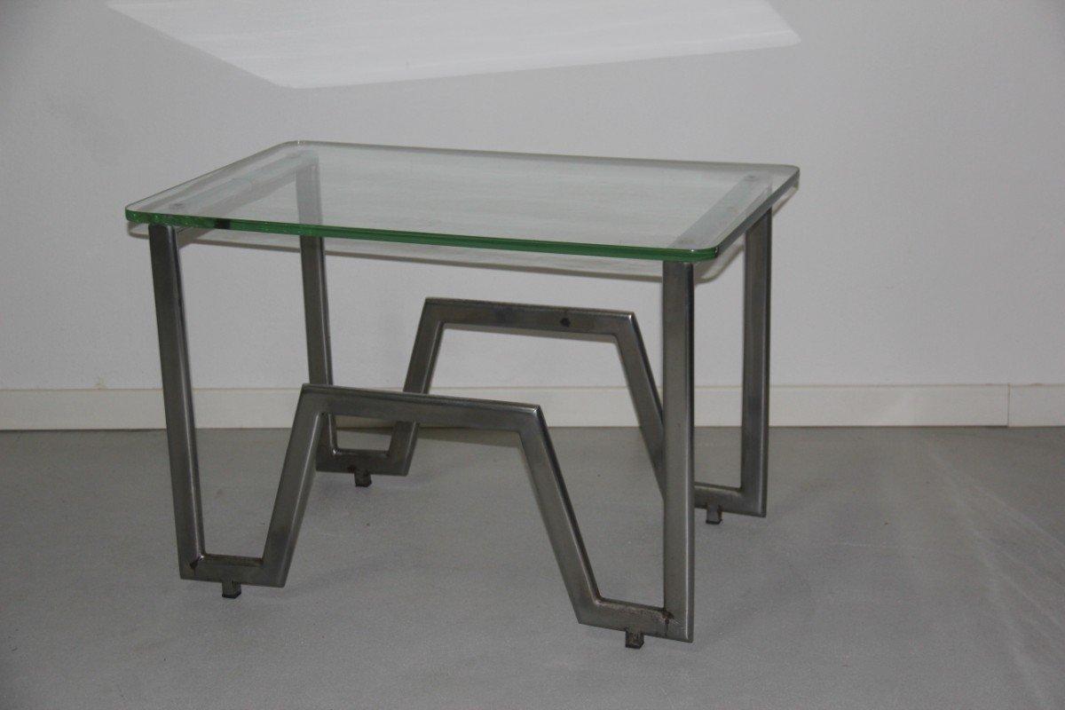 franz sischer rationalistischer tisch aus verchromten metall 1930er bei pamono kaufen. Black Bedroom Furniture Sets. Home Design Ideas
