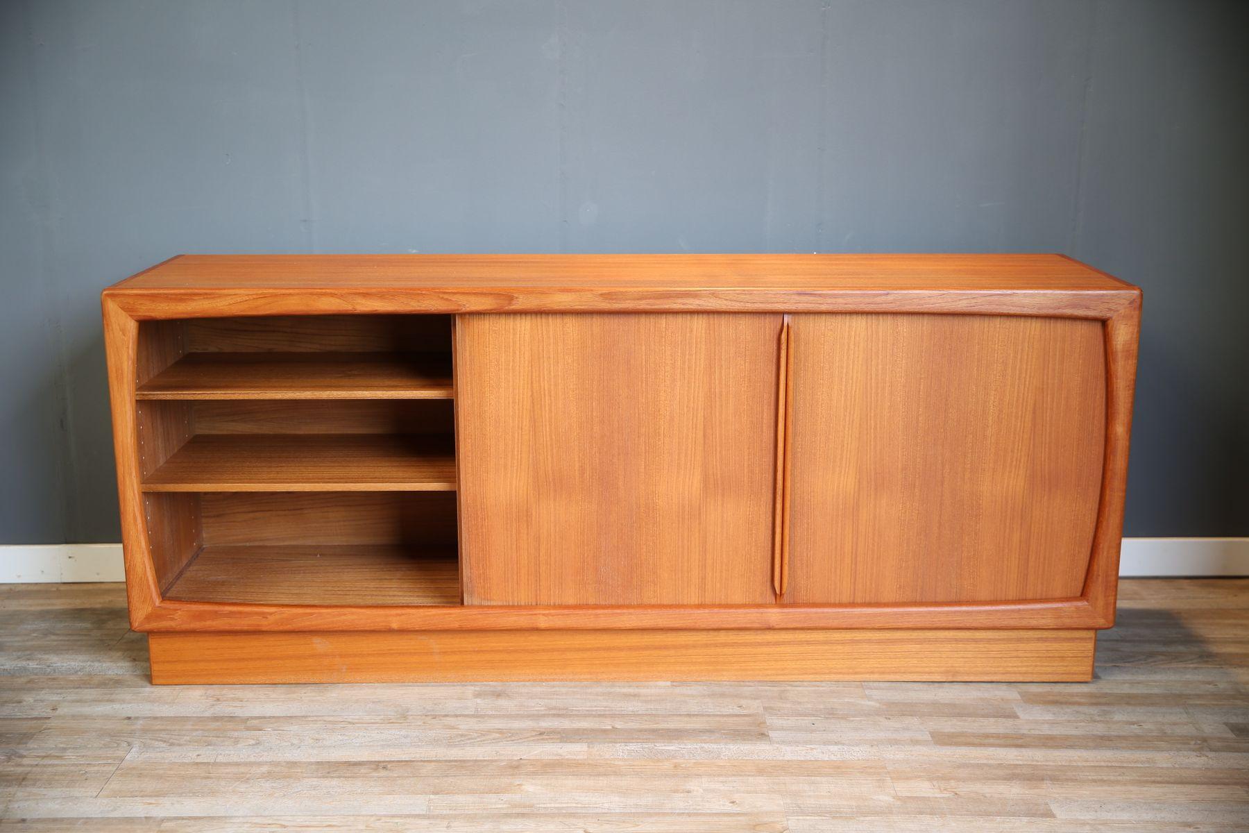 skandinavisches teak sideboard mit sechs schubladen von dyrlund 1960er bei pamono kaufen. Black Bedroom Furniture Sets. Home Design Ideas