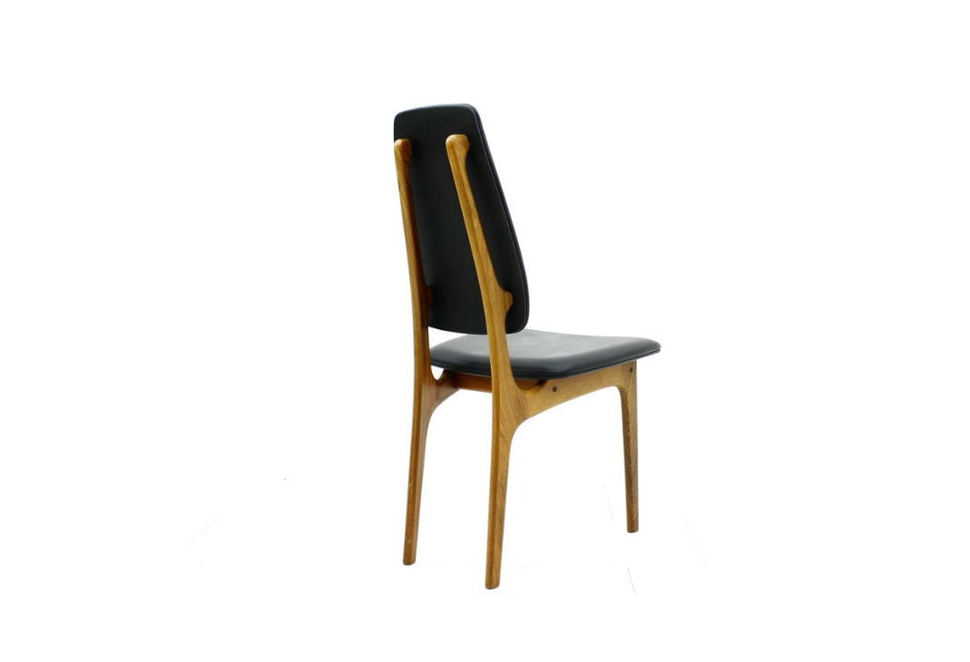 high back rosewood chair by erik buch for o d ma¸bler 1960s for