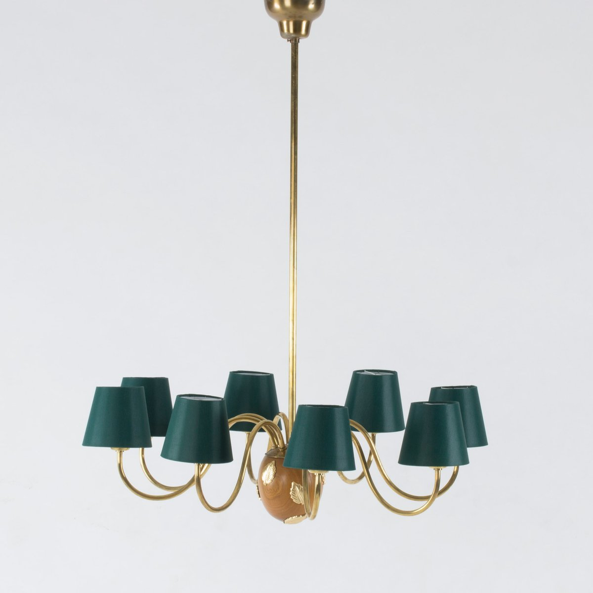 Swedish mahogany and brass chandelier by hans bergstrm for swedish mahogany and brass chandelier by hans bergstrm for atelji lyktan 1950s mozeypictures Choice Image