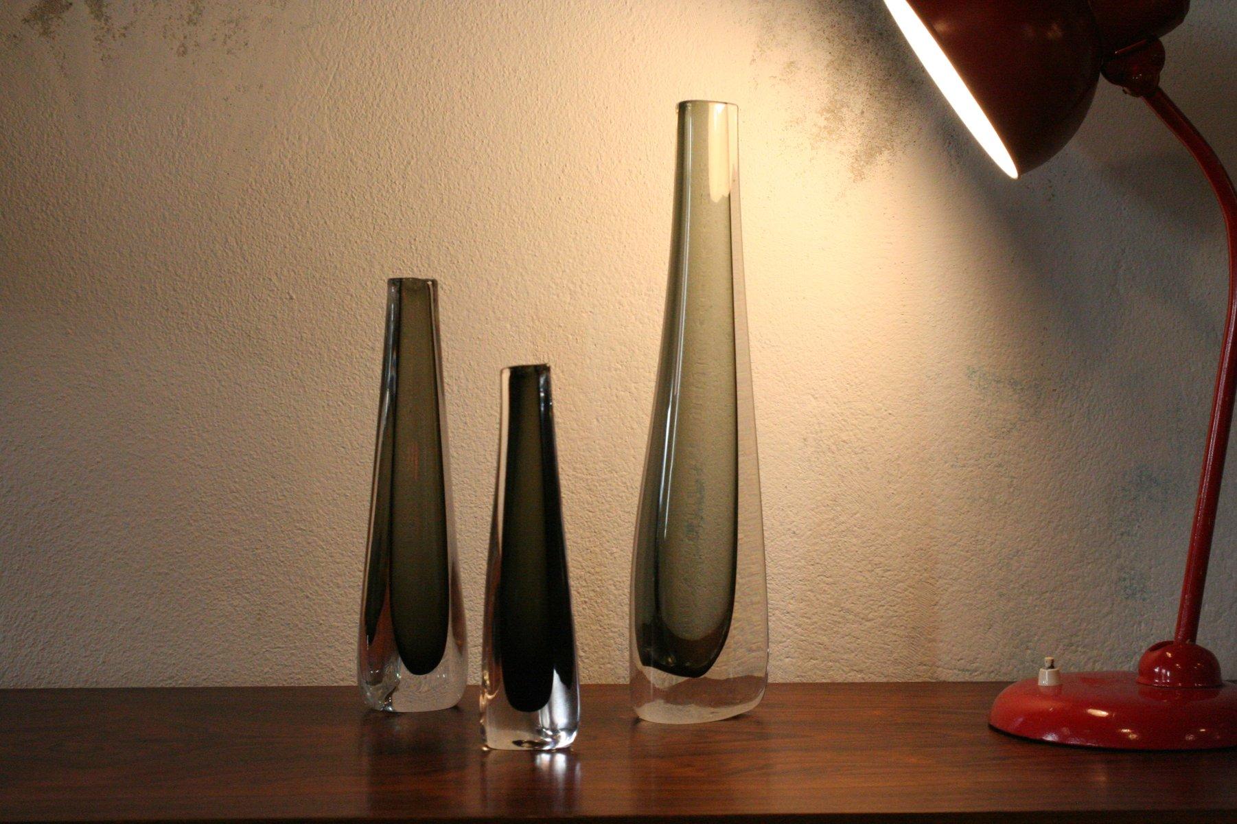 Swedish glass vases by nils landberg for orrefors 1960s set of 3 price per set reviewsmspy