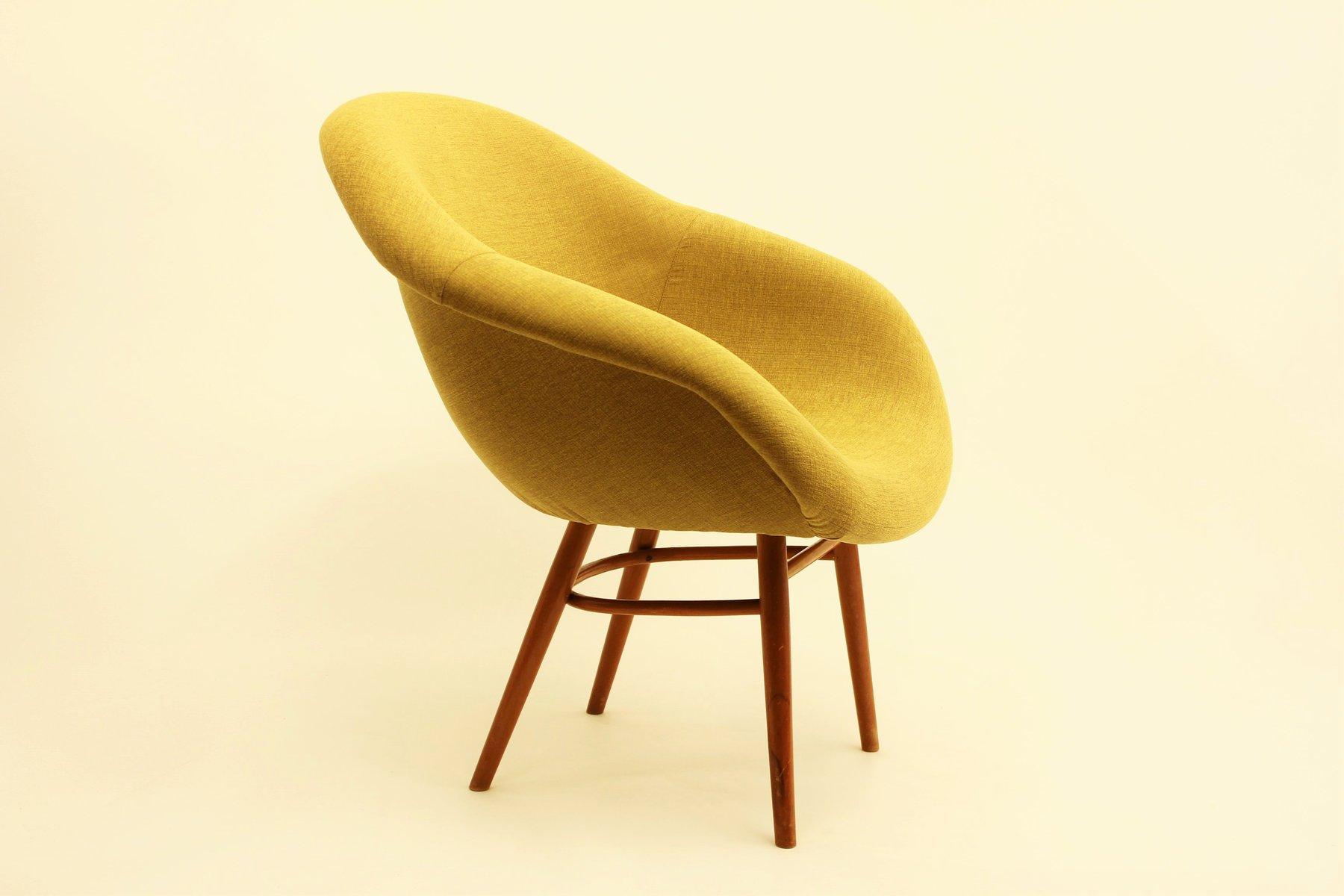 original chair shell eiffel vintage fiberglass side miller dsr ochre dsw oh dowel products eames herman