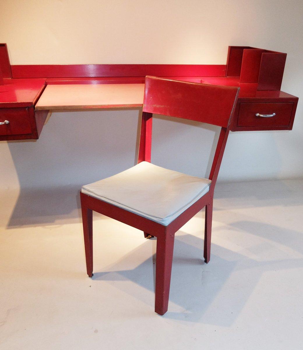 chaise et bureau par jean prouv jules leleu 1936 en. Black Bedroom Furniture Sets. Home Design Ideas