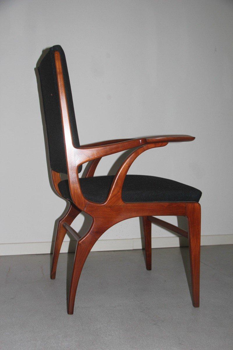 chaise de bureau en cerisier italie 1950 en vente sur pamono. Black Bedroom Furniture Sets. Home Design Ideas