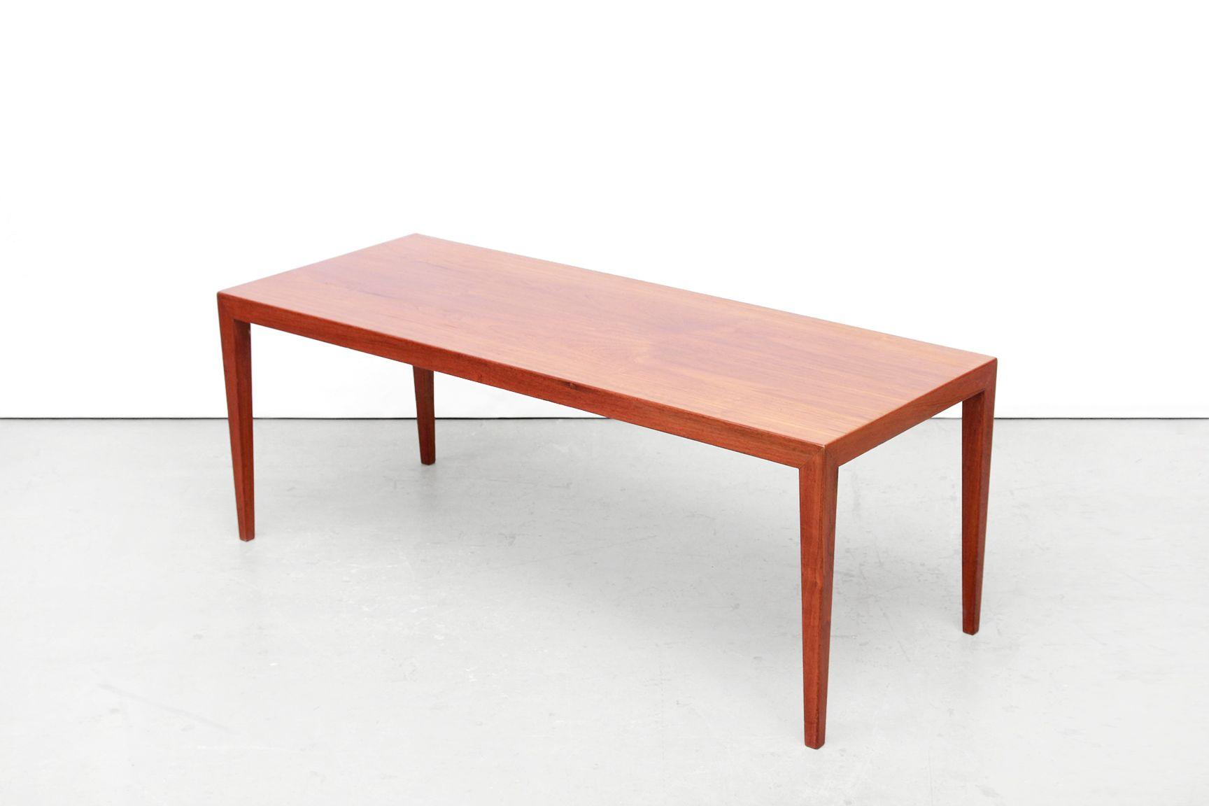 teak coffee table. Danish Teak Coffee Table By Severin Hansen For Haslev Mobelfabrik, 1950s 0
