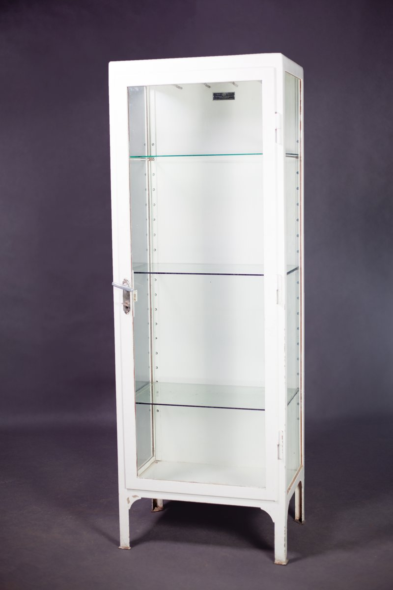 White metal polish medical cabinet 1950 for sale at pamono - Cabinet medical moutiers ...