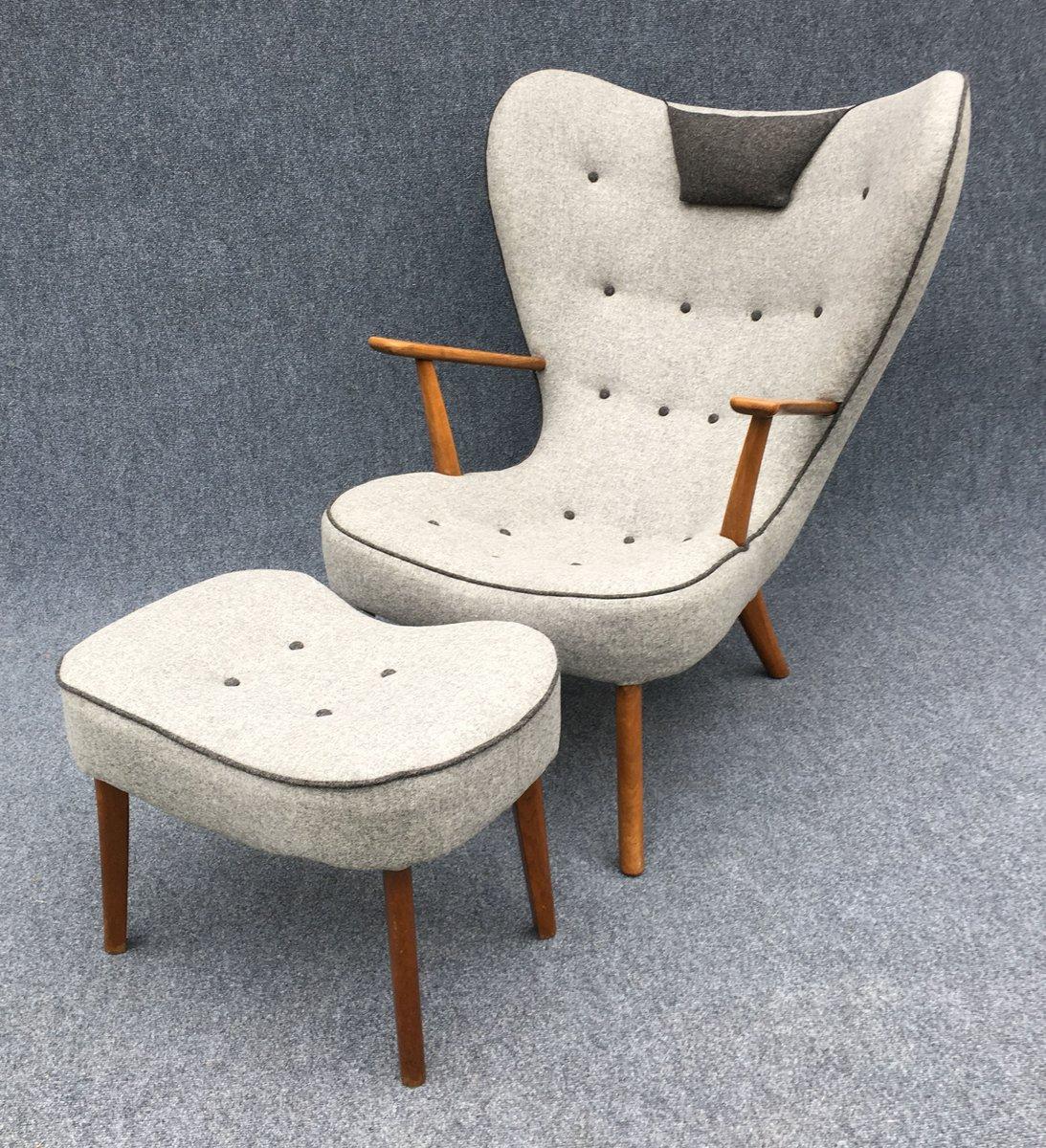 d nischer pragh sessel und ottoman von madsen sch bel 1960er bei pamono kaufen. Black Bedroom Furniture Sets. Home Design Ideas