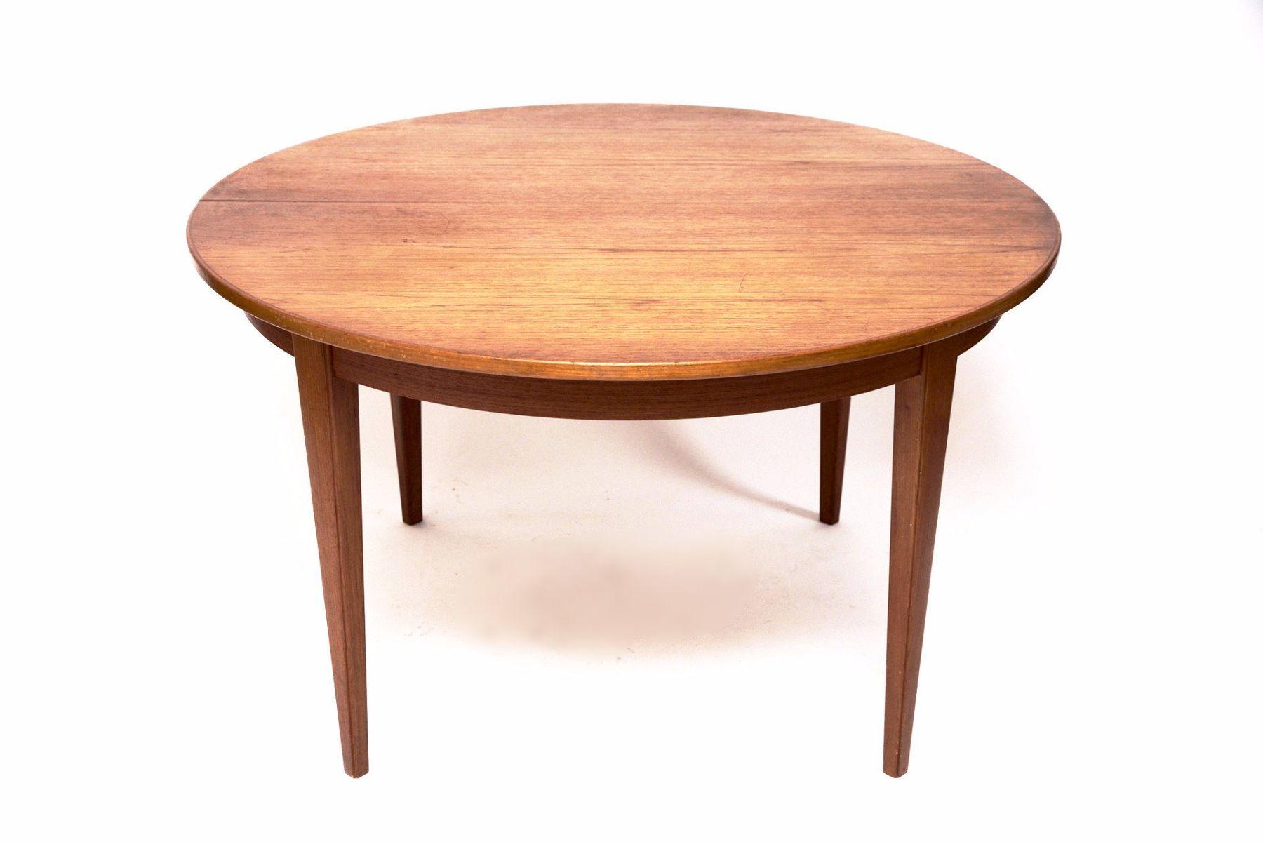 table de salon vintage en teck rallonge de omann jun. Black Bedroom Furniture Sets. Home Design Ideas