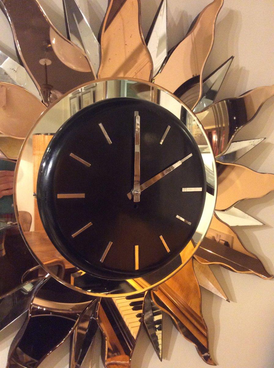 grand horloge murale art d co 1930s en vente sur pamono. Black Bedroom Furniture Sets. Home Design Ideas