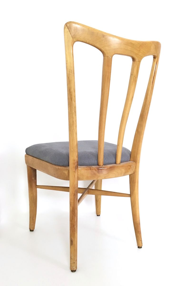 mid century kirschholz esszimmerst hle 1940er 6er set bei pamono kaufen. Black Bedroom Furniture Sets. Home Design Ideas
