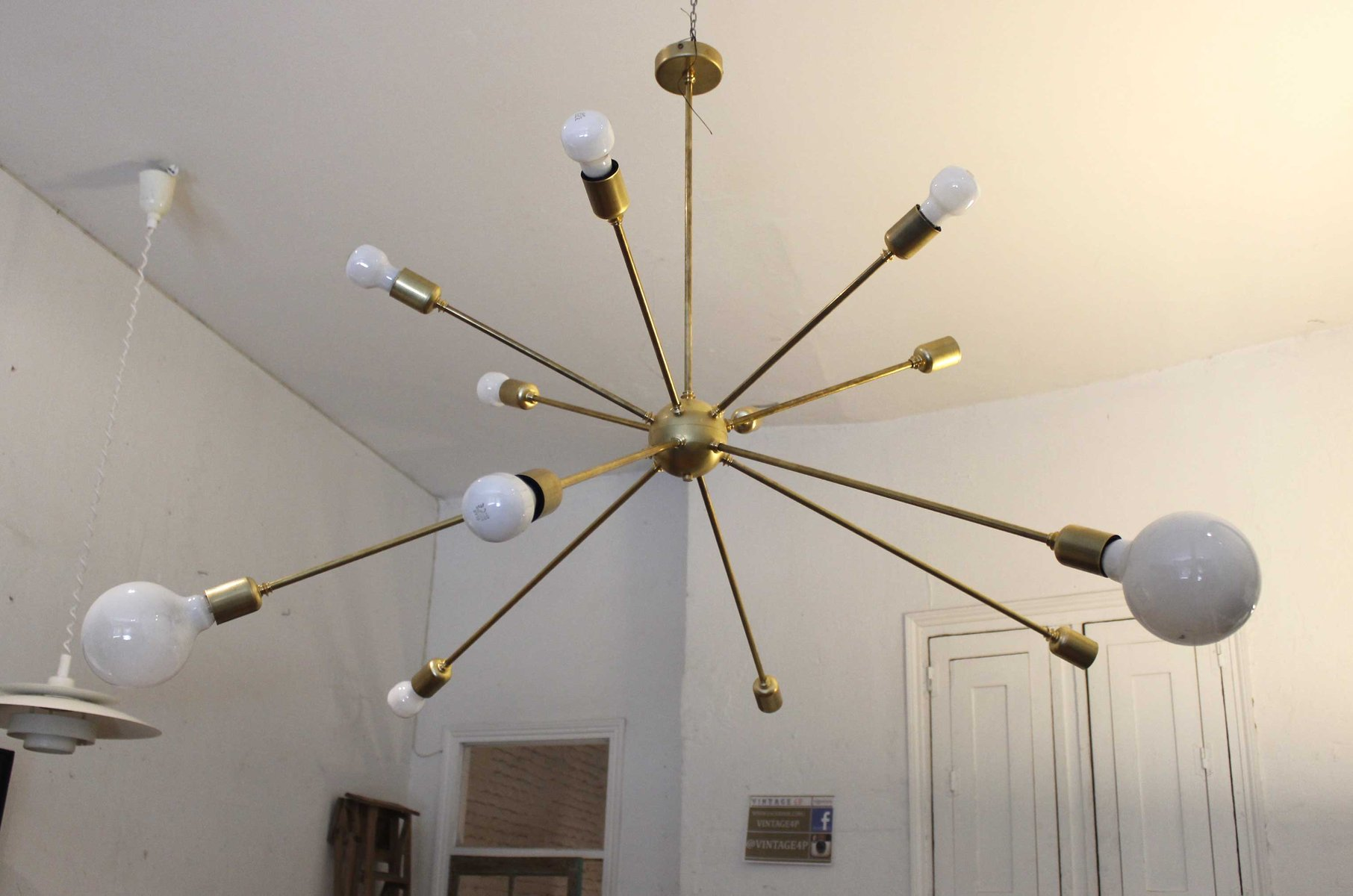 Sputnik ceiling light with 12 arms by juanma lizana for sale at pamono sputnik ceiling light with 12 arms by juanma lizana mozeypictures Image collections