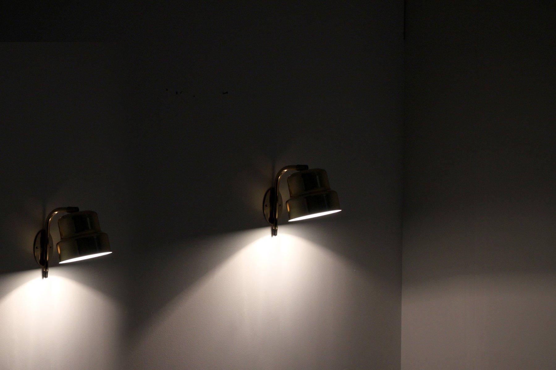 Lampade da parete vintage di abo randers danimarca set di in