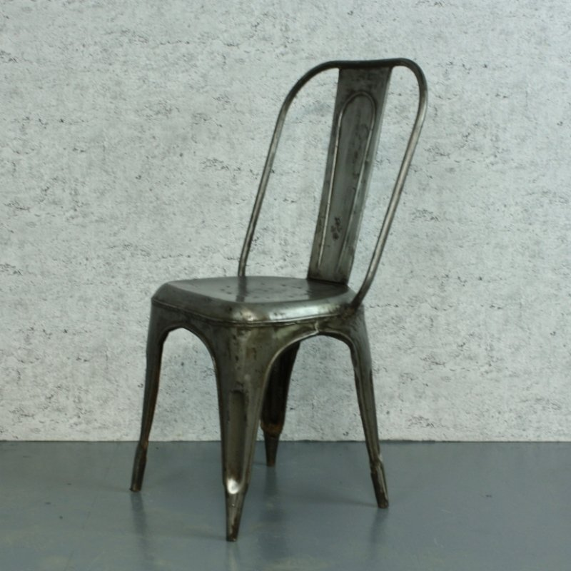 Xavier Pauchard vintage stripped steel ac tolix cafe chair by xavier pauchard