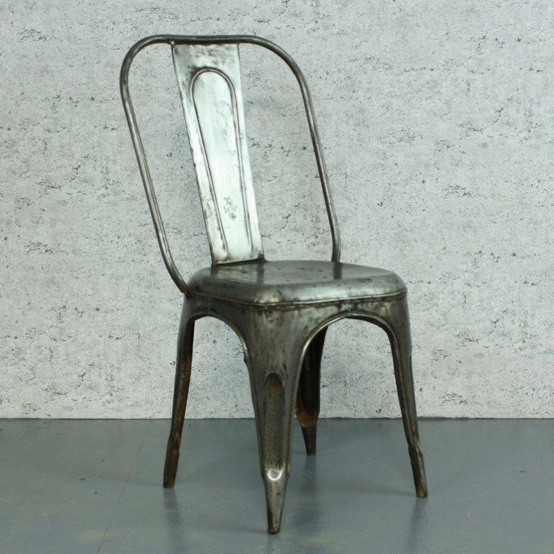 Tolix Stuhl französischer vintage ac tolix stuhl aus verzinktem stahl xavier