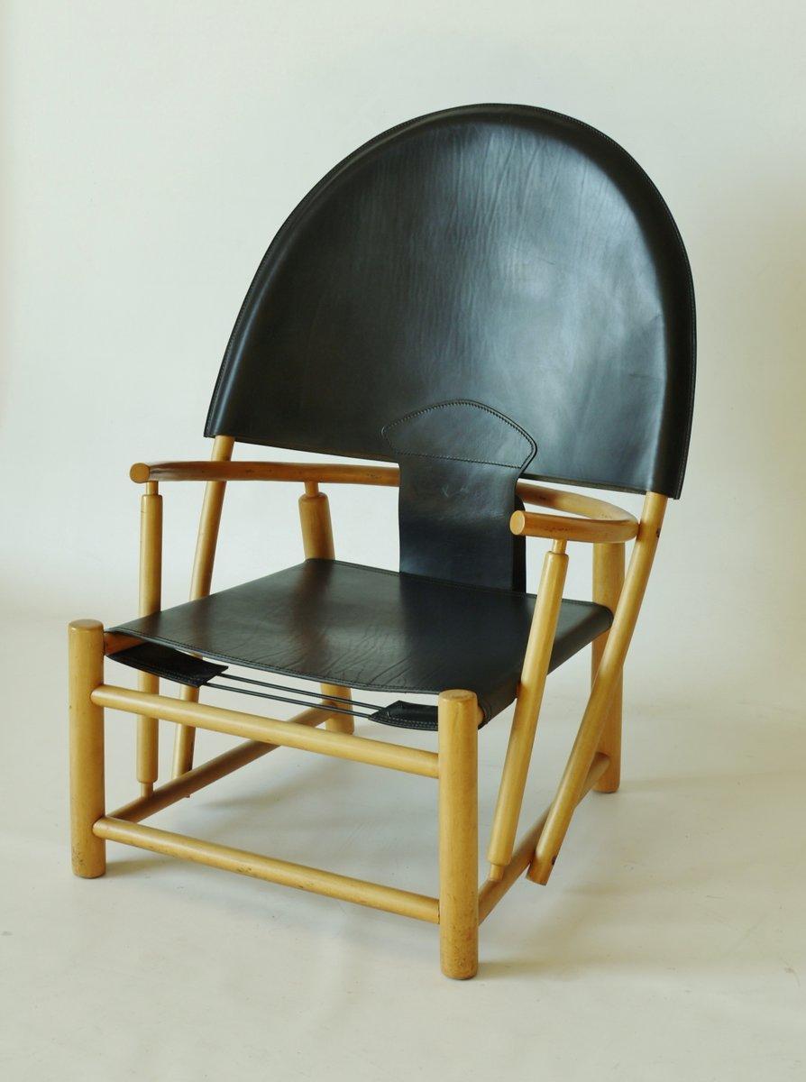 hoop stuhl aus leder buche von werther toffoloni und piero palange 1960er bei pamono kaufen. Black Bedroom Furniture Sets. Home Design Ideas
