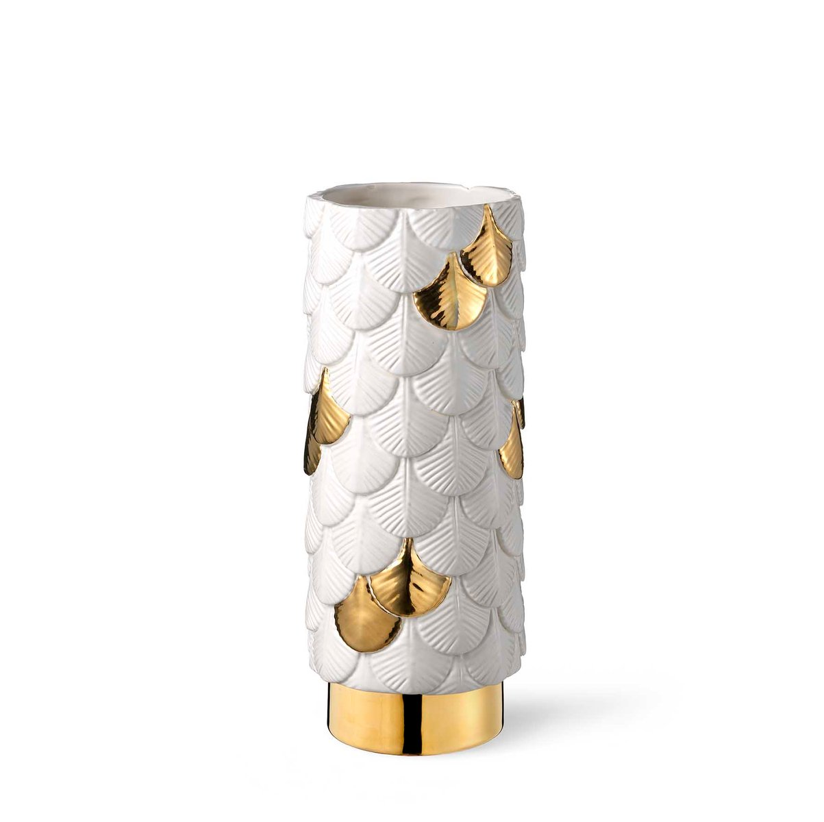 Plumage hand decorated white gold vase by cristina celestino for plumage hand decorated white gold vase by cristina celestino for botteganove reviewsmspy