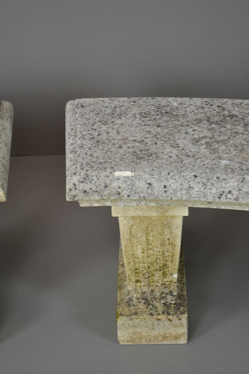 Vintage Cast Stone Garden Benches Set Of 2 For Sale At Pamono