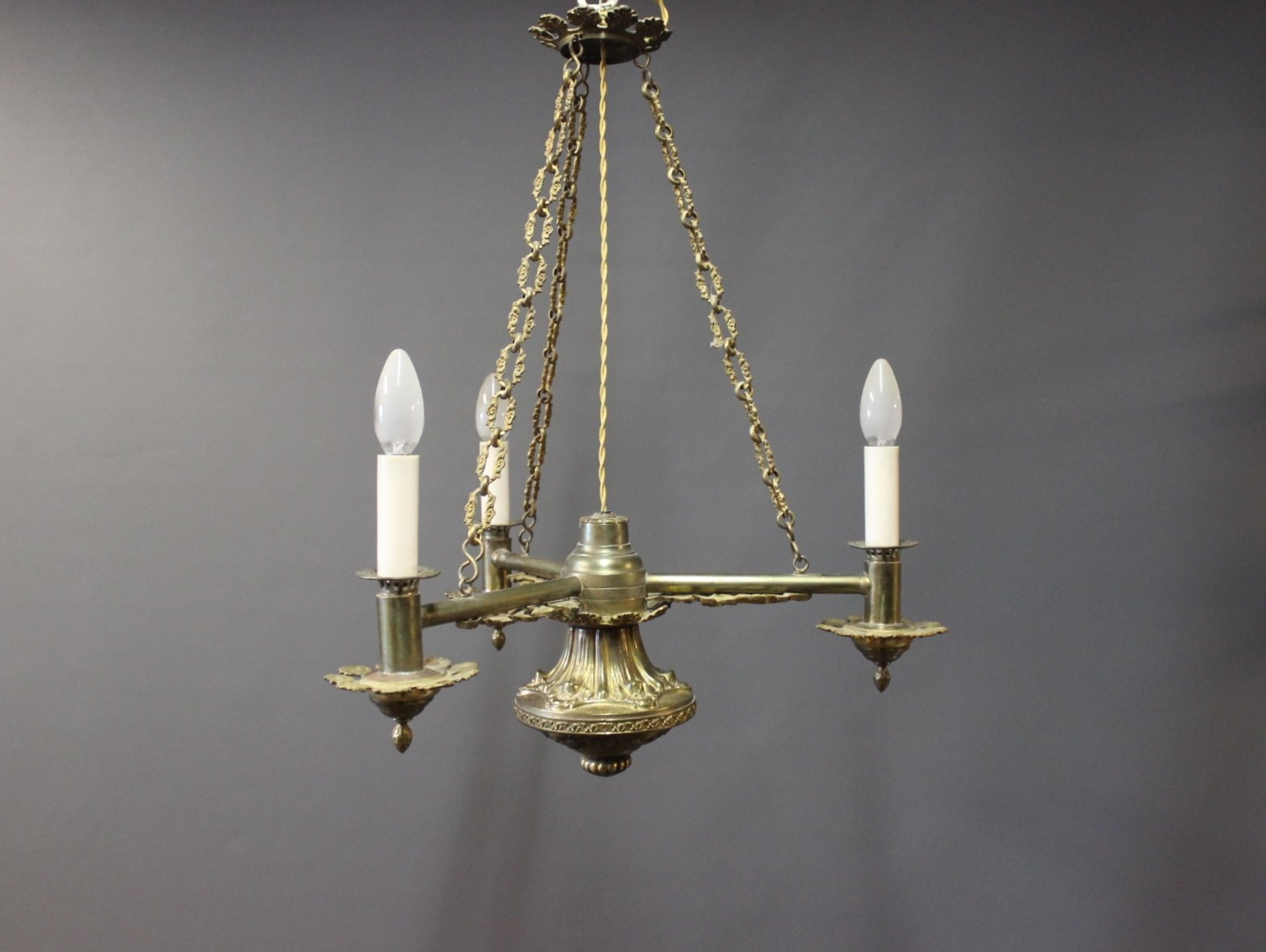Vintage brass chandelier 1930 for sale at pamono vintage brass chandelier 1930 mozeypictures Image collections