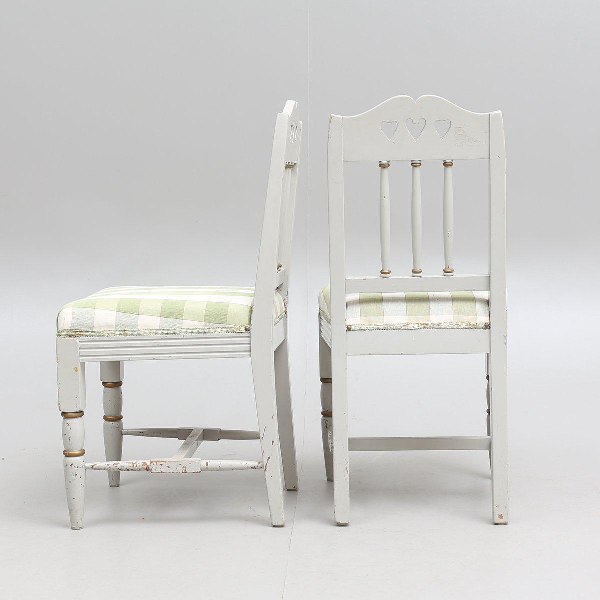 Tavolo e sedie antichi in stile gustaviano, set di 3 in vendita su ...